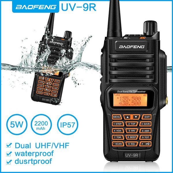 Baofeng UV9R Plus-Wasserdichtes Walkie Talkie 8Watts Two Way Radio Dual-Band-Handheld 10 km reichen lange UV9R CB Ham Kofferradio