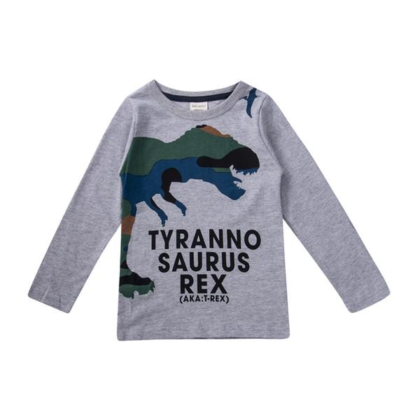 Vente chaude bébé enfants tout-petits garçons Dinosaur Casual coton T-shirt Vêtements T-shirts Tops