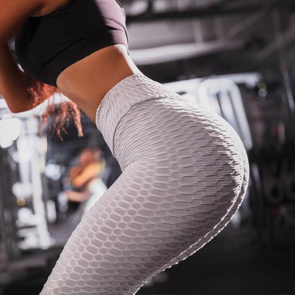 top popular Women Yoga Leggings 11 Colors Sexy Fold High Waist Sports Running Pants Ladies Fitness Wear Gym Clothes Women Yoga Pants 050523 2020