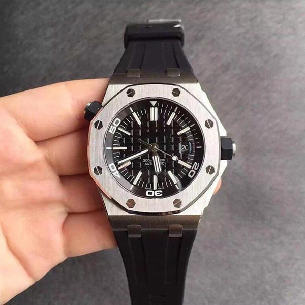 2019 ale men wri twatch royal oak erie 15710 t black dial 42 mm watch automatic mechanical watch hiping, Slivery;brown