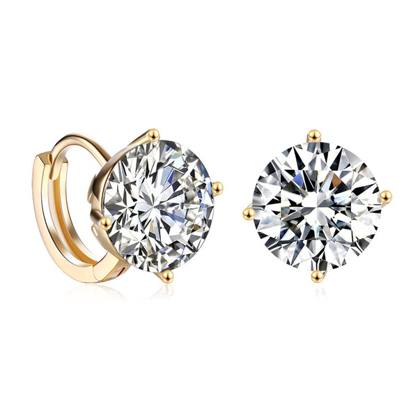62506c80c Earring Crystal Boho Vintage Clip On Screw Back Romantic Zircon Ear Ring  Accessories Geometric Simple Women Elegant Stud Mothers Day Wedding