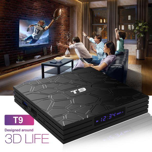 T9 Smart TV Box Android 8.1 4GB 64GB RK3328 Quad Core tv box WIFI Bluetooth Media Player 4K Set Top Box