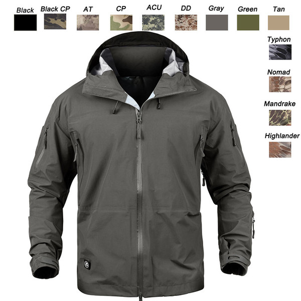 top popular Outdoor Clothing Woodland Hunting Shooting Coat Tactical Combat Clothing Camouflage Windbreaker Hardshell Outdoor Hoody Jacket P05-205 2021