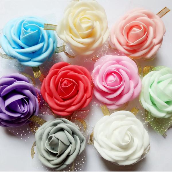 Gelin nedime Bilek Çiçek Yapay Kardeş El Çiçek Şerit Nedime Elastik Bilezik Düğün Dekorasyon 5 Renk HHA-979