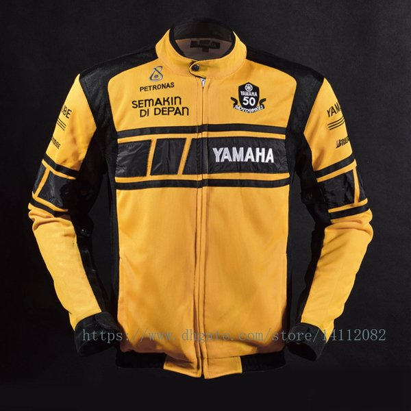MOTOGP 50-year Anniversary Jacket for YAMAHA Racing Team Summer Motorcycle Mesh Breathable Jacket Coat with 5 Protective Gear