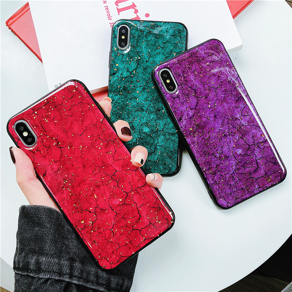 Luxury Platinum marble Glitter silicon cover case for iphone 7 8 6 plus X XR XS MAX coque For Samsung Galaxy S8 S9 Note 9