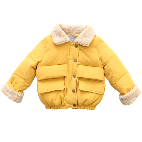 Baby Girls Winter Down Coats Kids Thickening Warm Snow Jackets Plus Velvet Cotton Paded Parkas For Girls Christmas Outerwear