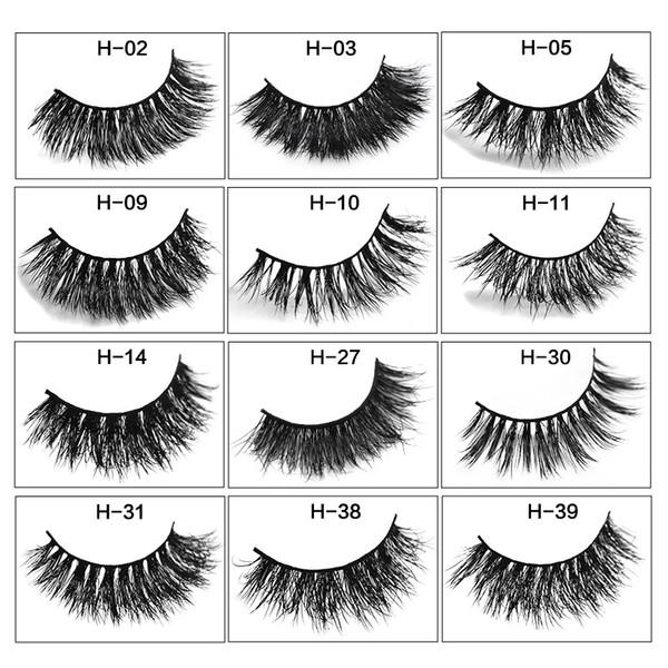 2019 MINK eyelashes 12 styles 1pair/lot 3D Full Strip False Eyelash Long Individual Mink Lashes Extension Makeup