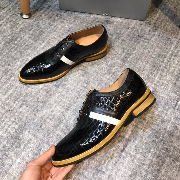 High Quality Business Gentleman Sneaker Black Blue White Bottom Greggo Orlato Flats Men Luxury Designer Shoe 38 44 Naot Shoes High Heel Shoes From