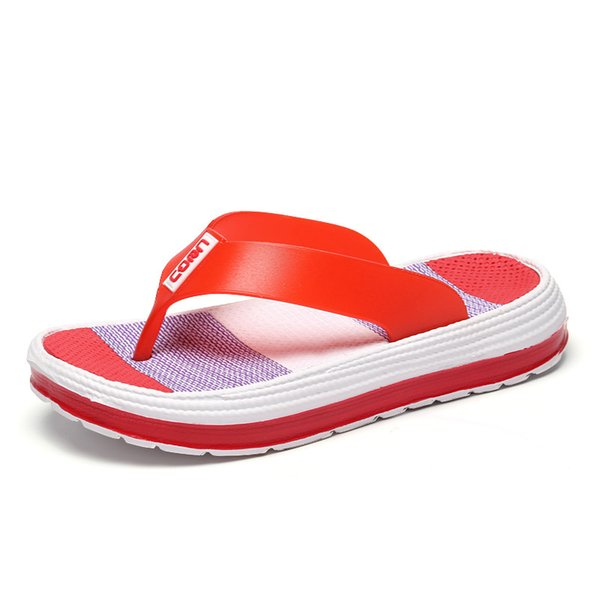 2018 Summer Slippers Women Casual Massage Durable Flip Flops Beach Sandals Female Wedge Shoes Striped Lady Room Slippers