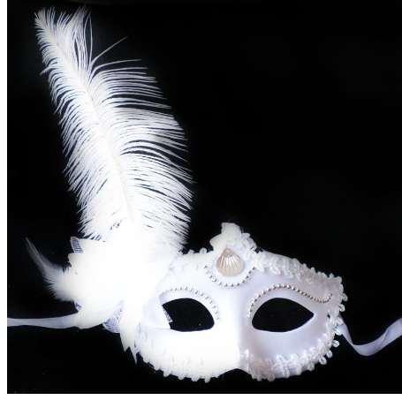 ISHOWTIENDA Mascarada Máscara de plumas Recorte de Halloween Fiesta de baile Máscara Accesorios Máscara de princesa de avestruz Negro