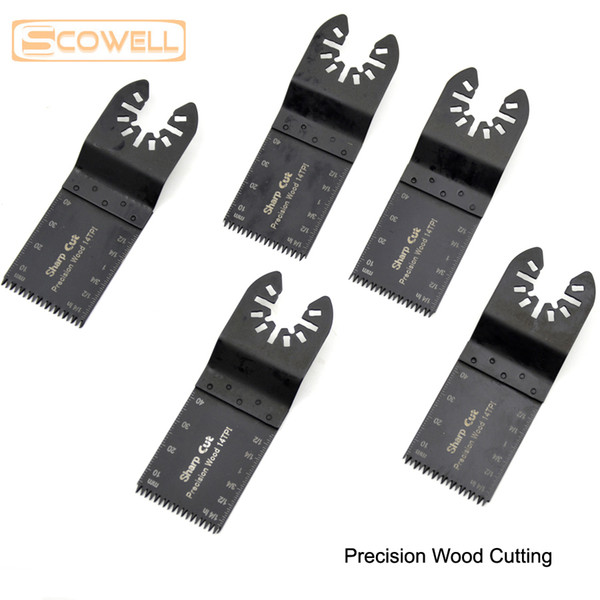 top popular 10 pack 34MM Japanese Teeth Precision wood Oscillating Multi Tool Saw Blade Accessories fit for Multimaster power tools 2021