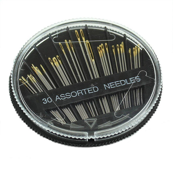 Popular 30PCS Assorted Hand Sewing Needles Embroidery Mending Craft Quilt Sew Case