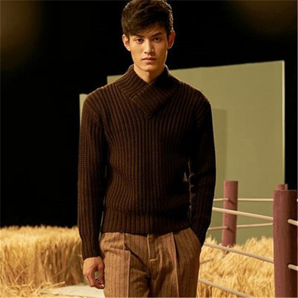 new arrival 100% hand made pure wool vneck knit women fashion solid slim h-straight pullover sweater one&over size