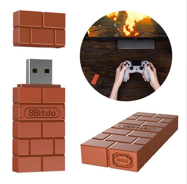 8BitDo USB Беспроводной Приемник Bluetooth Адаптер Для Windows Mac Raspberry Pi Nintendo Switch Для PS3 PS4 Xbox One Контроллер Для Переключателя