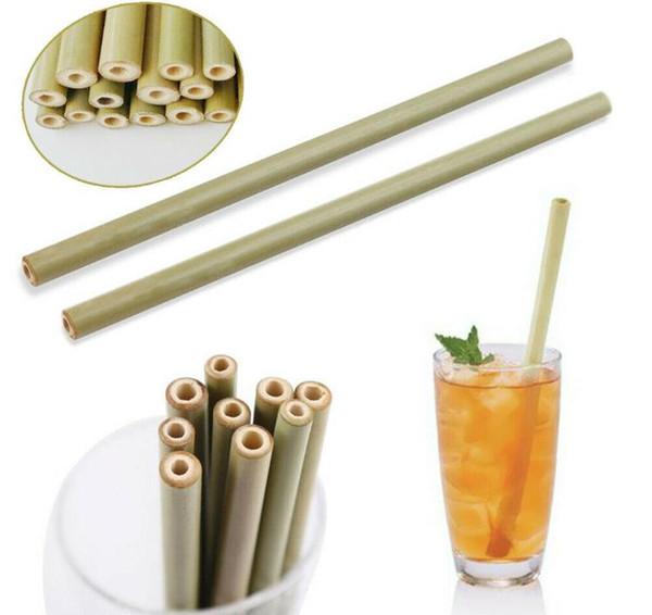 бамбуковой солома 23сма многоразовой соломинки напитки соломки уборщик щетка для партии свадьбы бара питьевых инструментов MMA2931