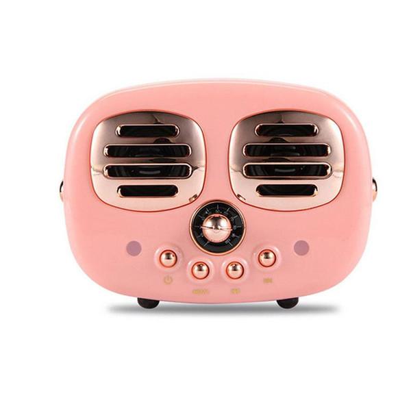 HiFi Retro Wireless Bluetooth Speakers Radio HM12 New Retro Cute Mini Bass With TF Card Interface Bluetooth V4.2 Speaker Innovative Gift