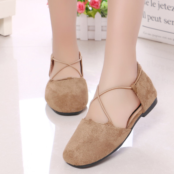 Fashion Kids Shoes For Girls Spring Summer Sandals Baby Girls Princess Dress Shoes Children Soft Bottom Dance Shoes Flat