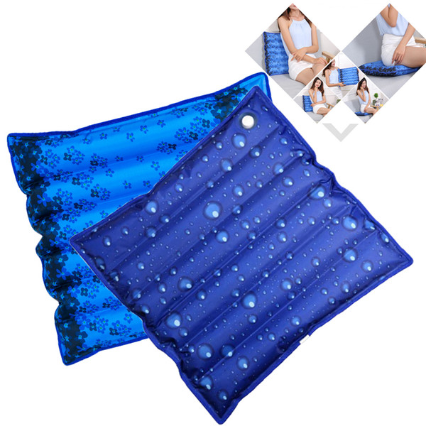 Thickened Cooling Ice Water Cushion Waterproof Cool Office Home Chair Cushion Pad Self-Help Add Water Bag Seat Back Cushion