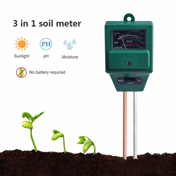 top popular 3 in 1 Plant Flowers Soil PH Tester Moisture Measuring humidity Light Meter Hydroponics Analyzer Gardening Detector Hygrometer 2021