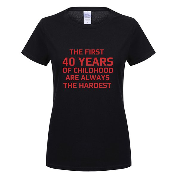 Omnitee Cool 40 Jahre alt T Shirts Frauen Oansatz Baumwolle Kurzarm Geburtstagsgeschenk T-Shirt Mädchen 40. T-Shirt T OT-872