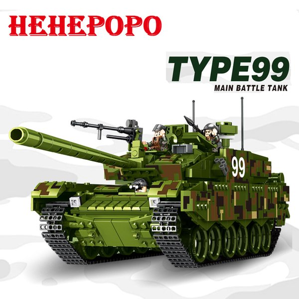 Tank World Military War Weapon Type 99 Tank Block 1339pcs Bricks Building Blocks Sets Models Educational Toys For Children DIY