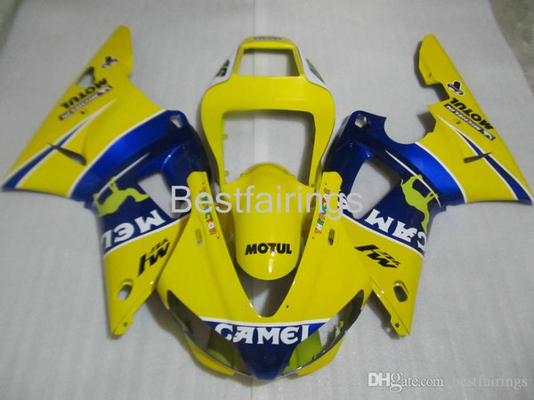 ZXMOTOR Hot sale fairing kit for YAMAHA R1 1998 1999 yellow blue fairings YZF R1 98 99 PO89
