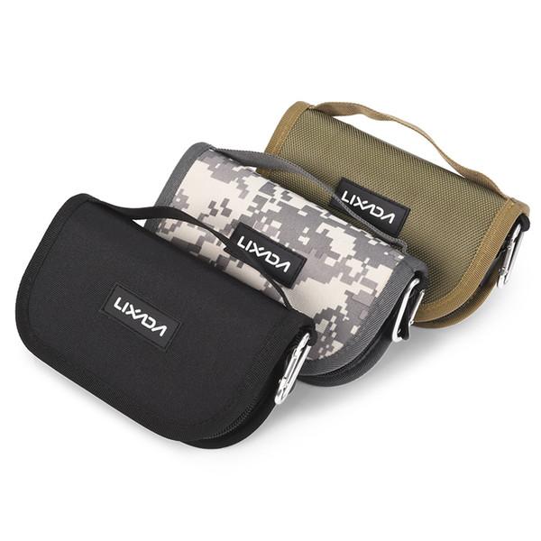 Lixada Fishing Bags Canvas Fishing Lure Hook Pesca Bag Waist Shoulder Outdoor Waterproof Case 3 Color #109240