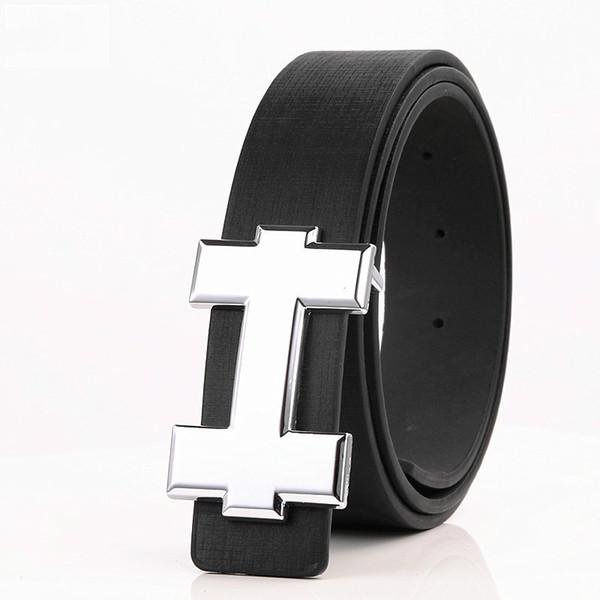 Ceintures Designer Luxury Designer H Marque Ceintures d'hommes de haute qualité Homme PU cuir femmes Boucle de ceinture Bracelet pour Jeans Taille Noir 105cm