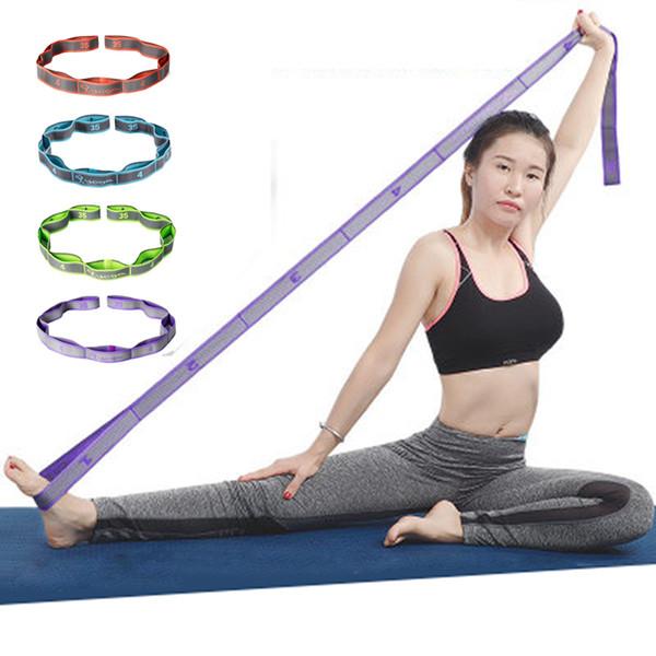 Élastique Yoga Stretch Band Exercice Résistance Corde Tirer Ceinture Danse Latine Pilates Sport Entraînement Pour Les Filles Femmes