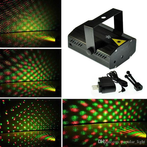 150MW Mini commovente verde rosso blu del partito / corpo nero della fase del laser DJ party luce scintillio con il treppiedi lampada principale stadio