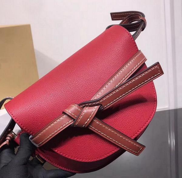 Neueste neue hochwertige echtes echtes leder Geometrische zippy umhängetasche handtasche puzzle tasche tote mini gatter tasche