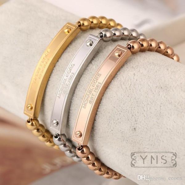 Kadınlar Için toptan Bilezikler Bilezikler Metal Kolye Kalp Charm Bilezikler Bilezikler Jewellry Bilezik Hediyeler Pulsera Titanyum Çelik Bracele