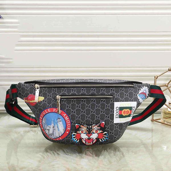 Diseñador para hombre bolso de la cintura Unisex bolsos de lujo con tigre impreso Fannypack Deisgner bolso del pecho para las mujeres Fashoin caliente # 0608
