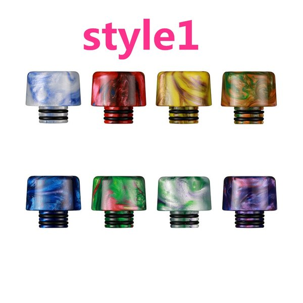 (Factory sale)11Types 510 Drip Tip Rainbow Honeycomb Resin Mouthpiece for 510 Thread Tanks Wide Bore Drippers TFV8 Baby Ego Aio
