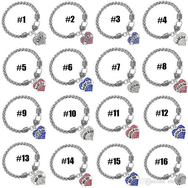 58 arten diamant liebe herz armband kristall familienmitglied mama tochter oma glauben glauben hoffen beste freundin armband für frauen 161958