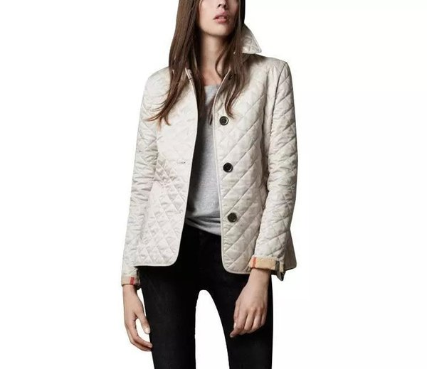 Gros- Femmes Vestes plaine Automne Coton Manteau Manteau matelassé Casual Jacket Mode vêtement Plaid quilting rembourré Parkas