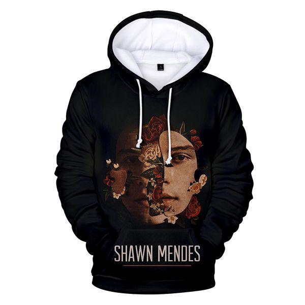 Hot Arrive Shawn Mendes 3D Hoodies Men/women Fashion Hip Hop Harajuku Pullover 3D Print Shawn Mendes Men's black Sweatshirt