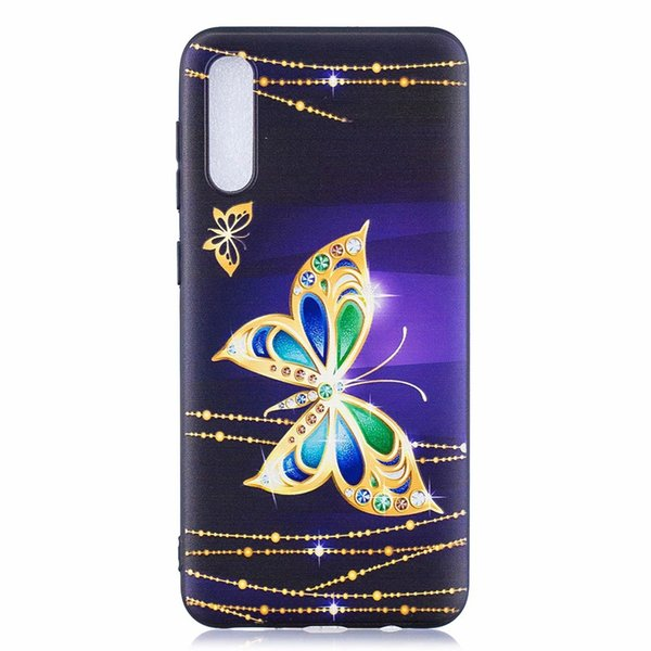 For Samsung Galaxy A50 A30 A20 A10 Relief Emboss Flower Soft TPU Case Animal Butterfly Owl Panda Cartoon Silicone Luxury Phone Covers Coque