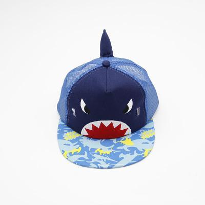 Köpekbalığı Beyzbol Şapkası karikatür çocuklar şapka Bahar Yaz Moda Çocuk Yenilik Güneş Şapka Kontrast Renk Bebek Topu Kap FFA2072