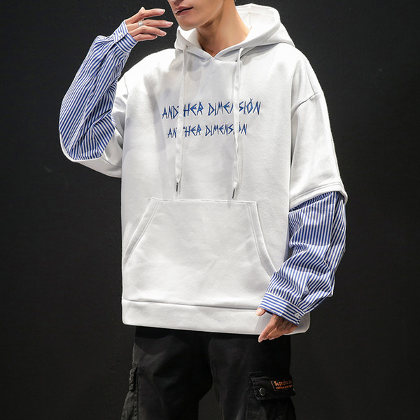 Men's Sweatshirt 2019 Spring New Cotton Embroidered Pullover Hooded Sweatshirt Loose Long Sleeve Casual Trend Youth Men's Wear