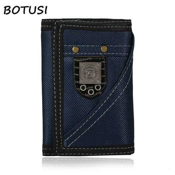 BOTUSI Cowboy Vintage Key Ring Coin Bag Men Wallets Short Male Clutch Leather Wallet Men Money Dollar Card Holder Purses for #529254