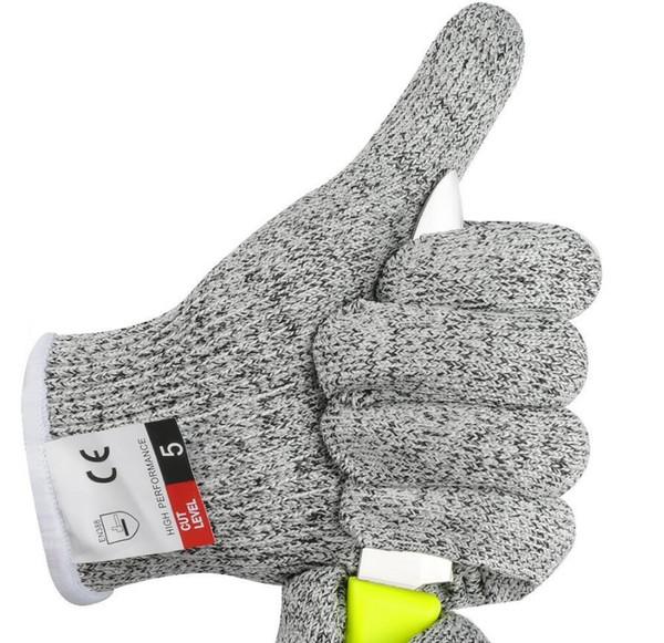 Guantes de protección tácticos HPPE Guante anti-corte de metal 5 Protección pesca exterior caza guantes a prueba de agua guantes de jardín de pollo
