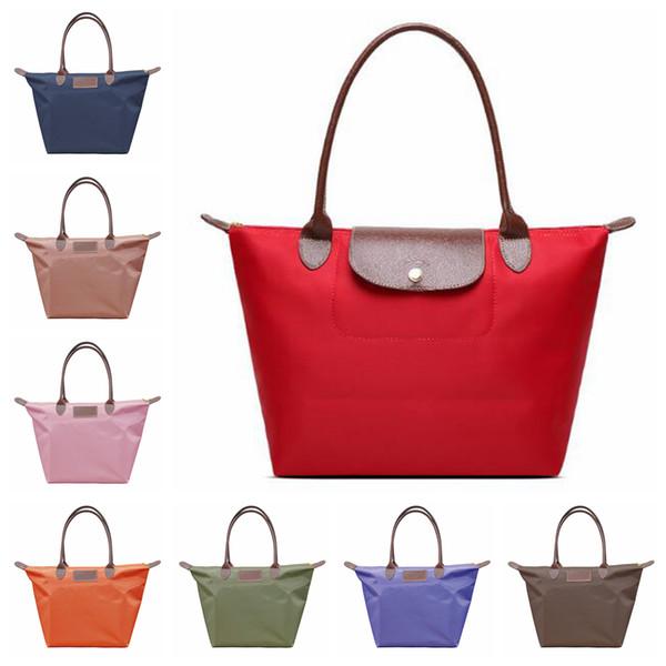 Oxford Dumpling Handbag 17 Colors Large Capacity Shoulder Shopping Tote Bags Beach Top-handle Candy Color Hobos Storage Bag 50pcs OOA6053