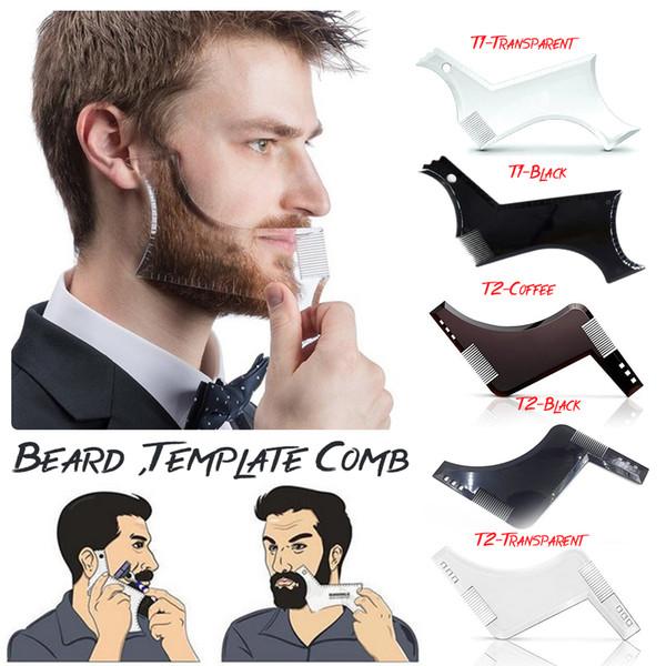 Peine Beard Shapper Shaping Tools Sex Man Gentleman Trim Template Plantilla para recortar el corte de cabello Moldeador Plantilla modelado Beard