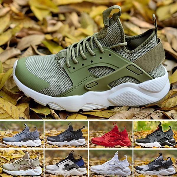 Nike Air Huarache Run Ultra Yeni Huarache Ultra Koşu Ayakkabıları 4 Erkekler Ve Kadınlar Atletik Huaraches Sneakers Meme Kanseri Huraches Spor Eğitmenler Ayakkabı Boyutu 36-45