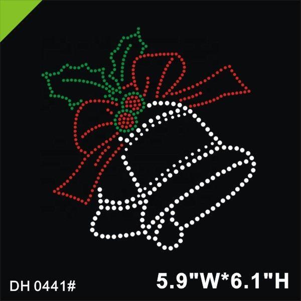 Campanas De Navidad de diamantes//imitaci ón diamante transferencia de la revisión de hierro en Motif Regalo Gratis