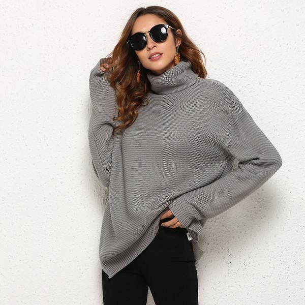 designer donne maglione marca inverno 2019 nuovo lusso europeo e americano di lusso maglia collo alto design delle donne di grandi dimensioni maglione