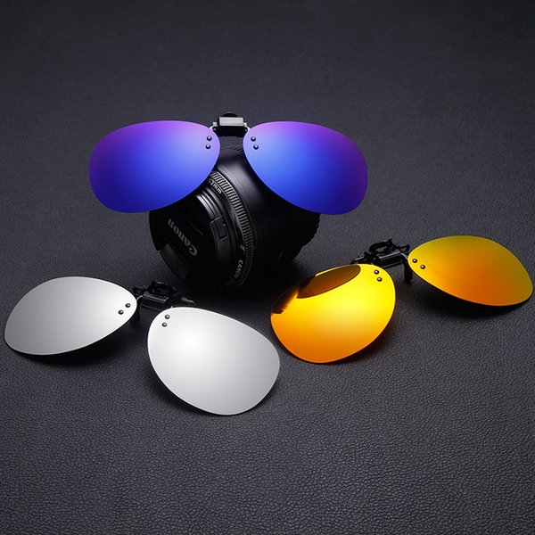 Espejo con clip Gafas de sol polarizadas Tipo de clip Miopía Gafas de sol Conductor Conducir Visión nocturna Conducir anteojos