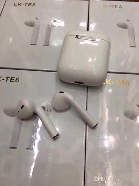 Высочайшее качество LK-TE8 Беспроводные наушники Bluetooth Наушники Наушники с зарядным устройством Bluetooth Наушники для iPhone X IOS